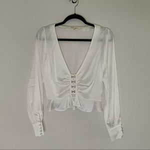For Love and Lemons Crop Blouse